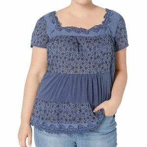 Lucky brand Women's Plus Size Top 2X